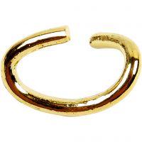 Ring, ovaal, dikte 0,7 mm, verguld, 50 stuk/ 1 doos