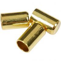 Eindkap, d: 2,5 mm, verguld, 50 stuk/ 1 doos