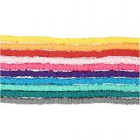 Klei kralen, d: 5-6 mm, gatgrootte 2 mm, diverse kleuren, 10x145 stuk/ 1 doos