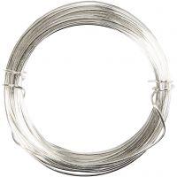 Verzilverd draad, dikte 0,4 mm, verzilverd, 20 m/ 1 rol