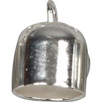 Eindkap, d: 8 mm, verzilverd, 50 stuk/ 1 doos