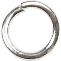 Ringen, afm 4,4 mm, dikte 0,7 mm, verzilverd, 500 stuk/ 1 doos