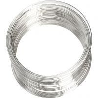 Memory Wire, d: 6 cm, dikte 0,8 mm, verzilverd, 1 stuk