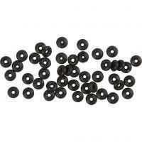 Stop ringen, zwart, 48 stuk/ 1 doos