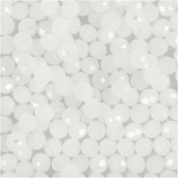 Facet kralen, afm 3x4 mm, gatgrootte 0,8 mm, mat, 100 stuk/ 1 doos