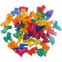 Figuur kralen, afm 25 mm, gatgrootte 4 mm, 1000 gr, diverse kleuren, 2000 ml/ 1 Doosje