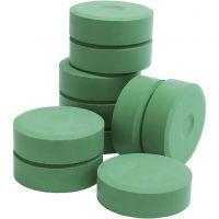 Tempera verfblokken, H: 19 mm, d: 57 mm, groen, 10 stuk/ 1 doos