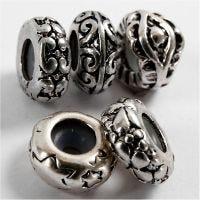 Metal links, d: 10 mm, gatgrootte 2 mm, verzilverd, 10 stuk/ 1 doos