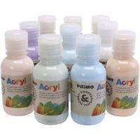 PRIMO luxe acrylverf, pastelkleuren, 10x125 ml/ 1 doos