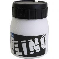 Linoleum verf, wit, 250 ml/ 1 Doosje