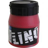 Linoleum verf, rood, 250 ml/ 1 Doosje