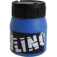 Linoleum verf, blauw, 250 ml/ 1 Doosje