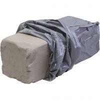 Witbakkende stoneware klei, 10 kg/ 1 doos