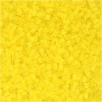 2-cut, d: 1,7 mm, afm 15/0 , gatgrootte 0,5 mm, transparant geel, 25 gr/ 1 doos