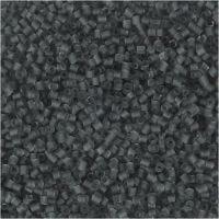 2-cut, d: 1,7 mm, afm 15/0 , gatgrootte 0,5 mm, transparant grijs, 25 gr/ 1 doos
