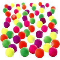 Neon kralen, d: 6 mm, gatgrootte 1,2 mm, 200 gr/ 1 doos