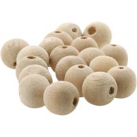 Houten kraal, d: 10 mm, gatgrootte 3 mm, 500 stuk/ 1 doos