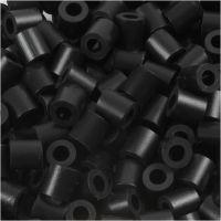 Strijkkralen, afm 5x5 mm, gatgrootte 2,5 mm, medium, schwarz (32220), 1100 stuk/ 1 doos