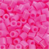 Strijkkralen, afm 5x5 mm, gatgrootte 2,5 mm, medium, roze (32222), 6000 stuk/ 1 doos