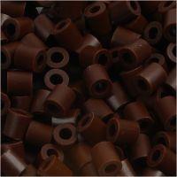Strijkkralen, afm 5x5 mm, gatgrootte 2,5 mm, medium, bruin (32229), 1100 stuk/ 1 doos