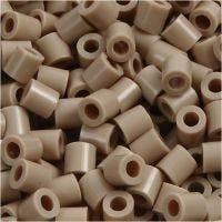 Strijkkralen, afm 5x5 mm, gatgrootte 2,5 mm, medium, beige (32248), 6000 stuk/ 1 doos