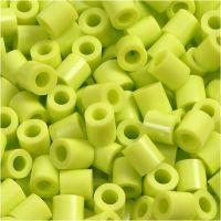 Strijkkralen, afm 5x5 mm, gatgrootte 2,5 mm, medium, lime green (32241), 1100 stuk/ 1 doos