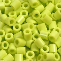 Strijkkralen, afm 5x5 mm, gatgrootte 2,5 mm, medium, lime green (32241), 6000 stuk/ 1 doos