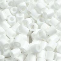 Strijkkralen, afm 5x5 mm, gatgrootte 2,5 mm, medium, wit (32221), 1100 stuk/ 1 doos