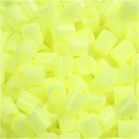 Strijkkralen, afm 5x5 mm, gatgrootte 2,5 mm, medium, pastel geel (32244), 6000 stuk/ 1 doos