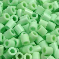 Strijkkralen, afm 5x5 mm, gatgrootte 2,5 mm, medium, pastel groen (32252), 6000 stuk/ 1 doos