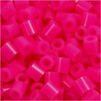 Strijkkralen, afm 5x5 mm, gatgrootte 2,5 mm, medium, cerise (32258), 1100 stuk/ 1 doos