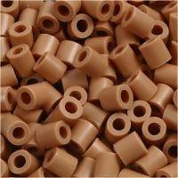 Strijkkralen, afm 5x5 mm, gatgrootte 2,5 mm, medium, lichtbruin (32260), 6000 stuk/ 1 doos