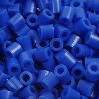 Strijkkralen, afm 5x5 mm, gatgrootte 2,5 mm, medium, donkerblauw (32232), 1100 stuk/ 1 doos