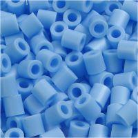 Strijkkralen, afm 5x5 mm, gatgrootte 2,5 mm, medium, pastel blauw (32224), 1100 stuk/ 1 doos