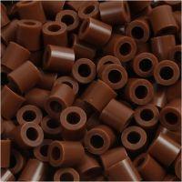 Strijkkralen, afm 5x5 mm, gatgrootte 2,5 mm, medium, chocolate (32249), 1100 stuk/ 1 doos