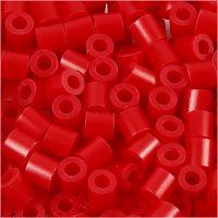 Strijkkralen, afm 5x5 mm, gatgrootte 2,5 mm, medium, rood (32231), 1100 stuk/ 1 doos