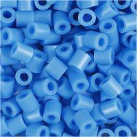Strijkkralen, afm 5x5 mm, gatgrootte 2,5 mm, medium, blauw (32238), 1100 stuk/ 1 doos
