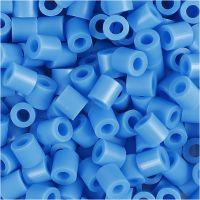 Strijkkralen, afm 5x5 mm, gatgrootte 2,5 mm, medium, blauw (32238), 6000 stuk/ 1 doos