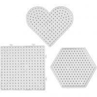 Onderplaten, afm 15x15-17,5x17,5 cm, JUMBO, transparant, 6 stuk/ 1 doos