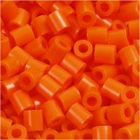 Foto kralen, afm 5x5 mm, gatgrootte 2,5 mm, helder oranje (13), 6000 stuk/ 1 doos