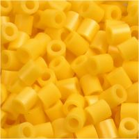 Foto kralen, afm 5x5 mm, gatgrootte 2,5 mm, geel (14), 6000 stuk/ 1 doos
