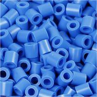 Foto kralen, afm 5x5 mm, gatgrootte 2,5 mm, blauw (17), 1100 stuk/ 1 doos