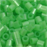 Foto kralen, afm 5x5 mm, gatgrootte 2,5 mm, groen parelmoer (22), 1100 stuk/ 1 doos