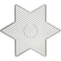 Onderplaat, grote ster, afm 15x15 cm, 10 stuk/ 1 doos