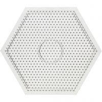 Onderplaat, grote zeskant, afm 15x15 cm, 10 stuk/ 1 doos