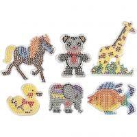 Onderplaten, dieren, afm 10x11-13x16,5 cm, 6 stuk/ 1 doos