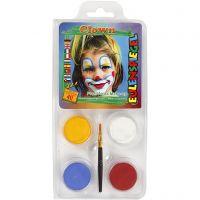 Eulenspiegel Schmink - Motieven set, clown, diverse kleuren, 1 set