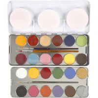 Schmink, diverse kleuren, 24 kleur/ 1 set