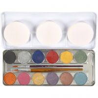 Schmink, parelmoer kleuren, 12 kleur/ 1 set