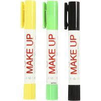 Playcolor Make up, zwart, lichtgroen, geel, 3x5 gr/ 1 doos